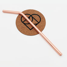 Stainless Steel Reusable Straws | Rose Gold | Curved | Earth Warrior™ | South Africa