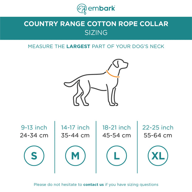Country Range Cotton Rope Collar