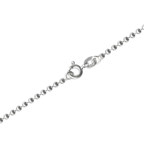 "16"" 2mm Sterling Silver Ball Chain Necklace"