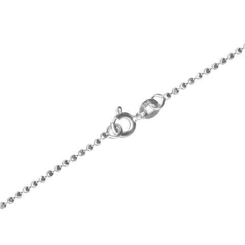 "16"" 1.5mm Sterling Silver Ball Chain Necklace"