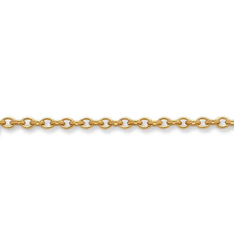 14/20 Hand-Crafted Gold-Filled Round Cable Chain Bracelet 1.5mm