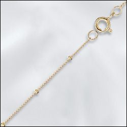 "16"" Gold Filled Satellite Chain Necklace"