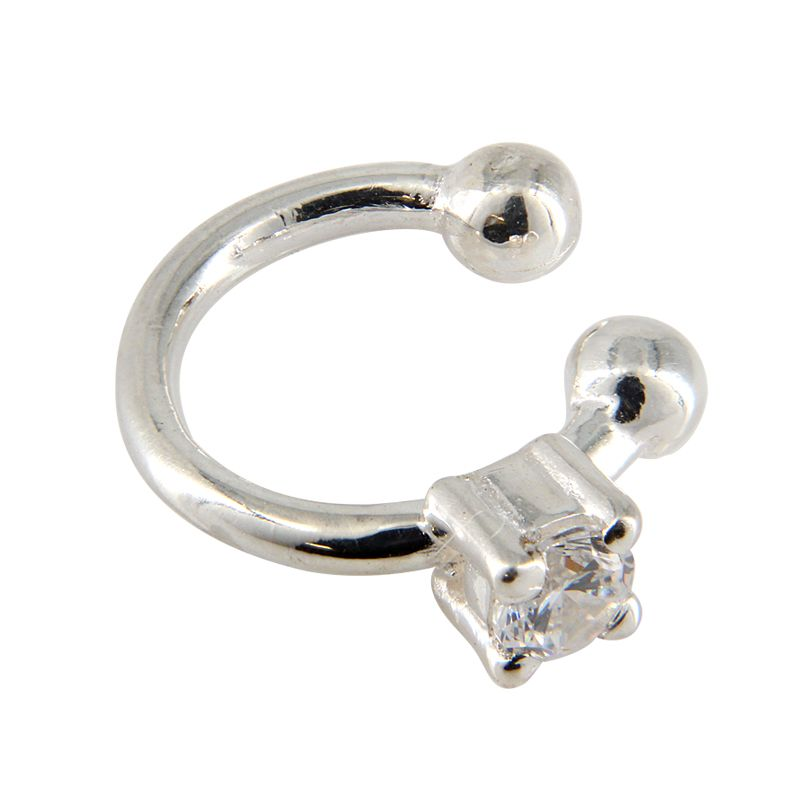 Ear Cuff w/ 4mm CZ Crystal