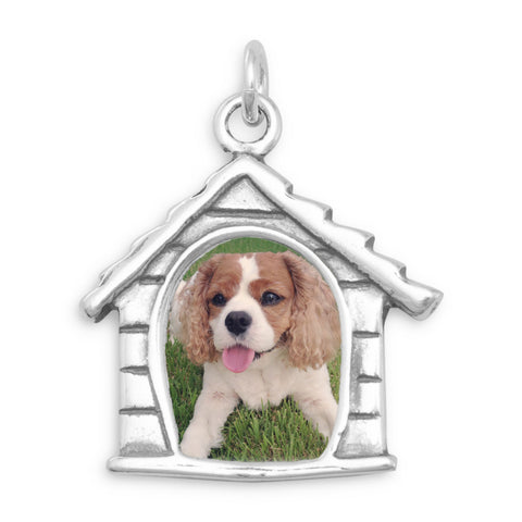 Dog House Picture Frame Charm