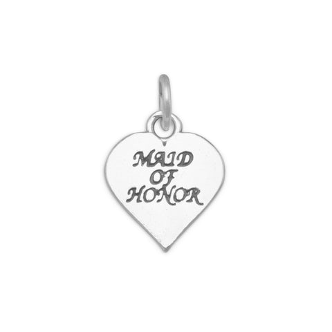 Oxidized Maid of Honor Charm