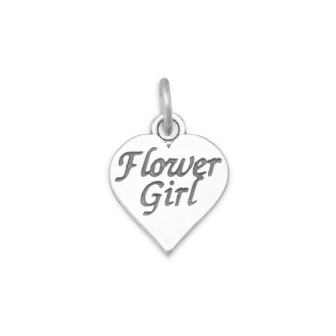 Oxidized Flower Girl Charm