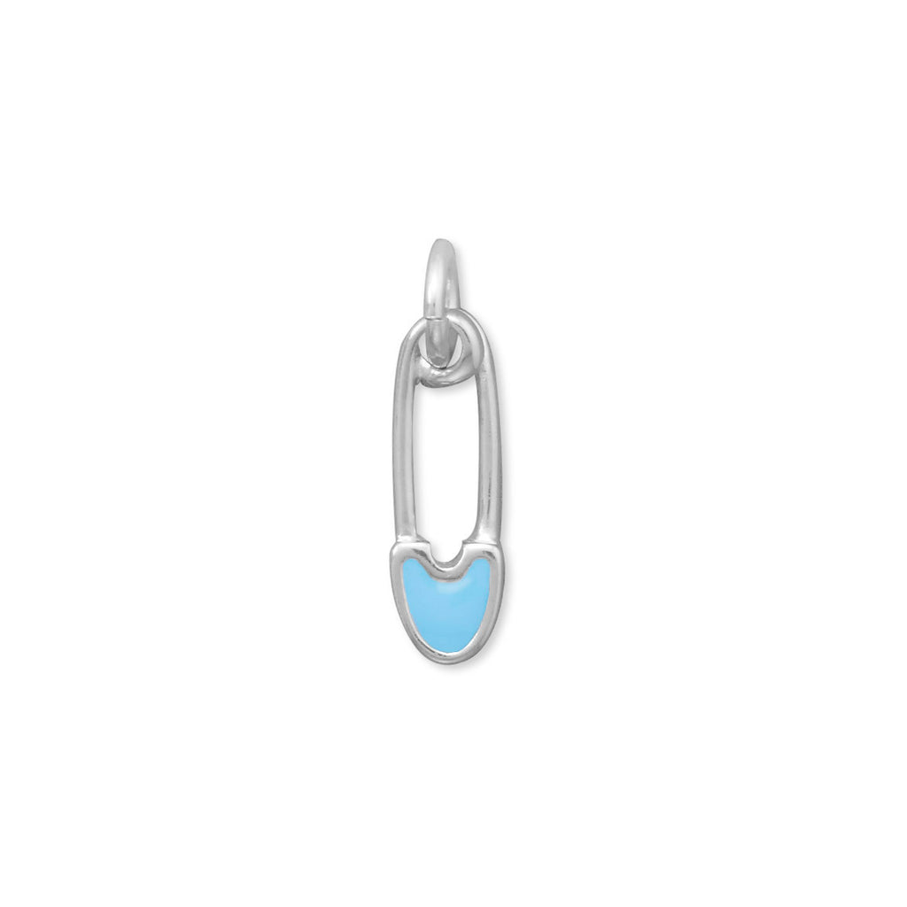 Blue Safety Pin Charm