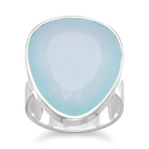 Freeform Sea Green Chalcedony Ring