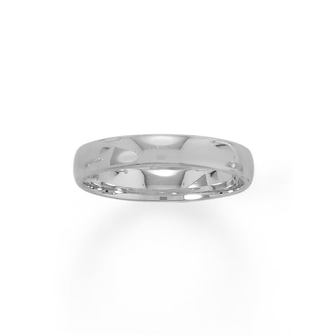 Rhodium Plated 4mm Band