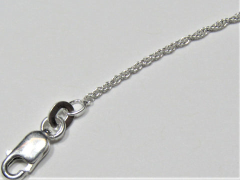 Hand-Crafted Sterling Silver Rope Necklace 1.3mm