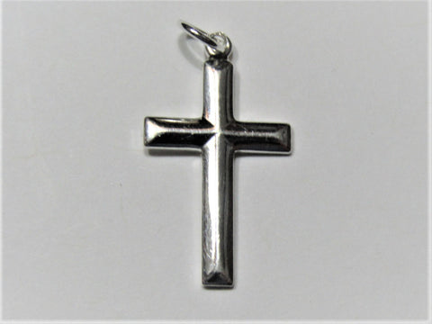 Sterling Silver 23x13mm Cross Charm Pendant