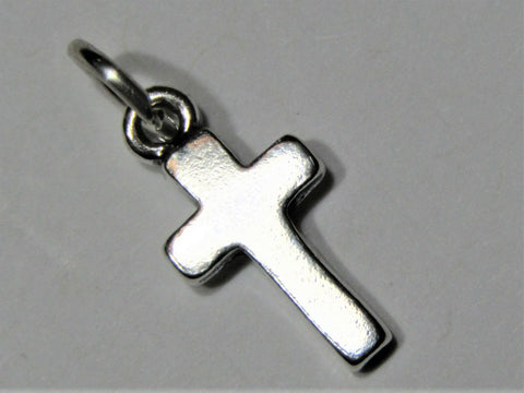STERLING SILVER SOLID CROSS PENDANT