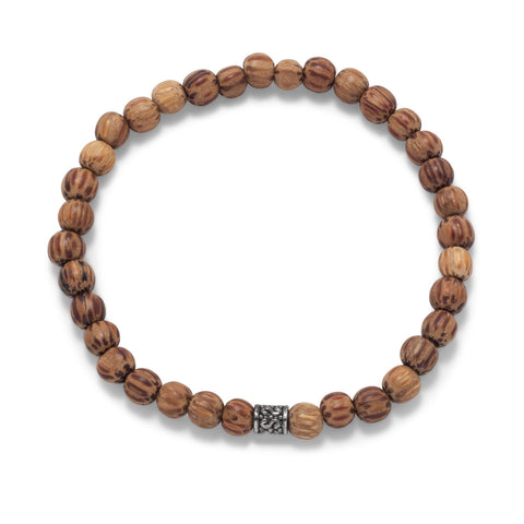 Palmwood Bead Fashion Stretch Bracelet