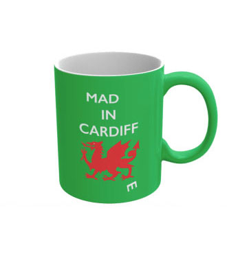 Mad(e) in Cardiff – ceramic mug