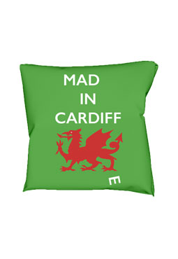 Mad(e) in Cardiff – cushion