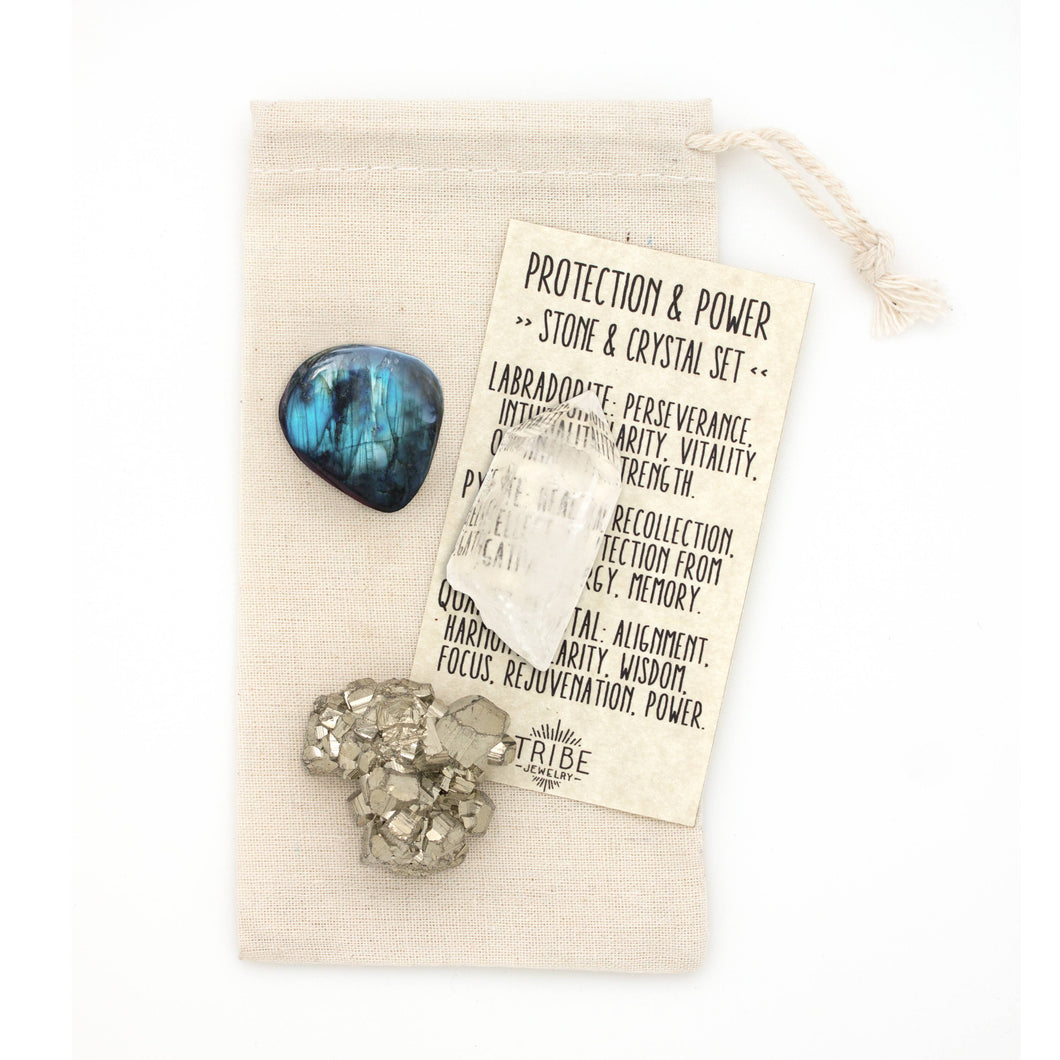 Hiouchi Jewels - Stone & Crystal Set | Protection & Power