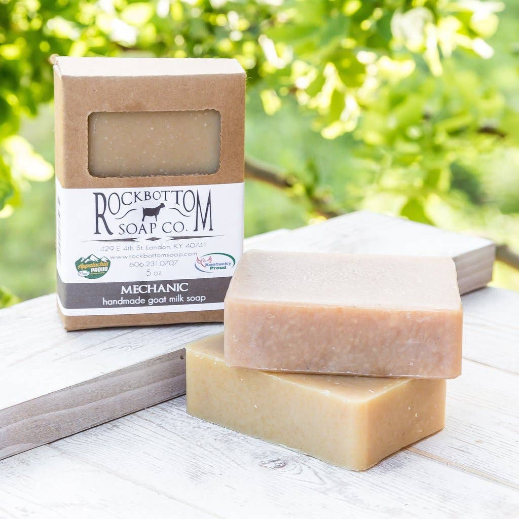 Rock Bottom Soap - Mechanics Goat Milk Soap Made with Ground Pumice