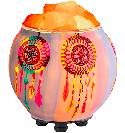 Dream Catchers Salt Lamp Diffuser With UL Listed Dimmer Cord