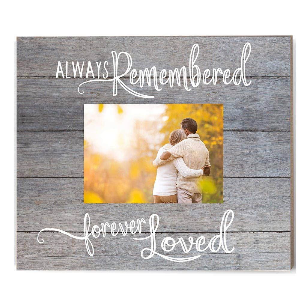 Kindred Hearts - Always Remembered Gray Slat Picture Frame