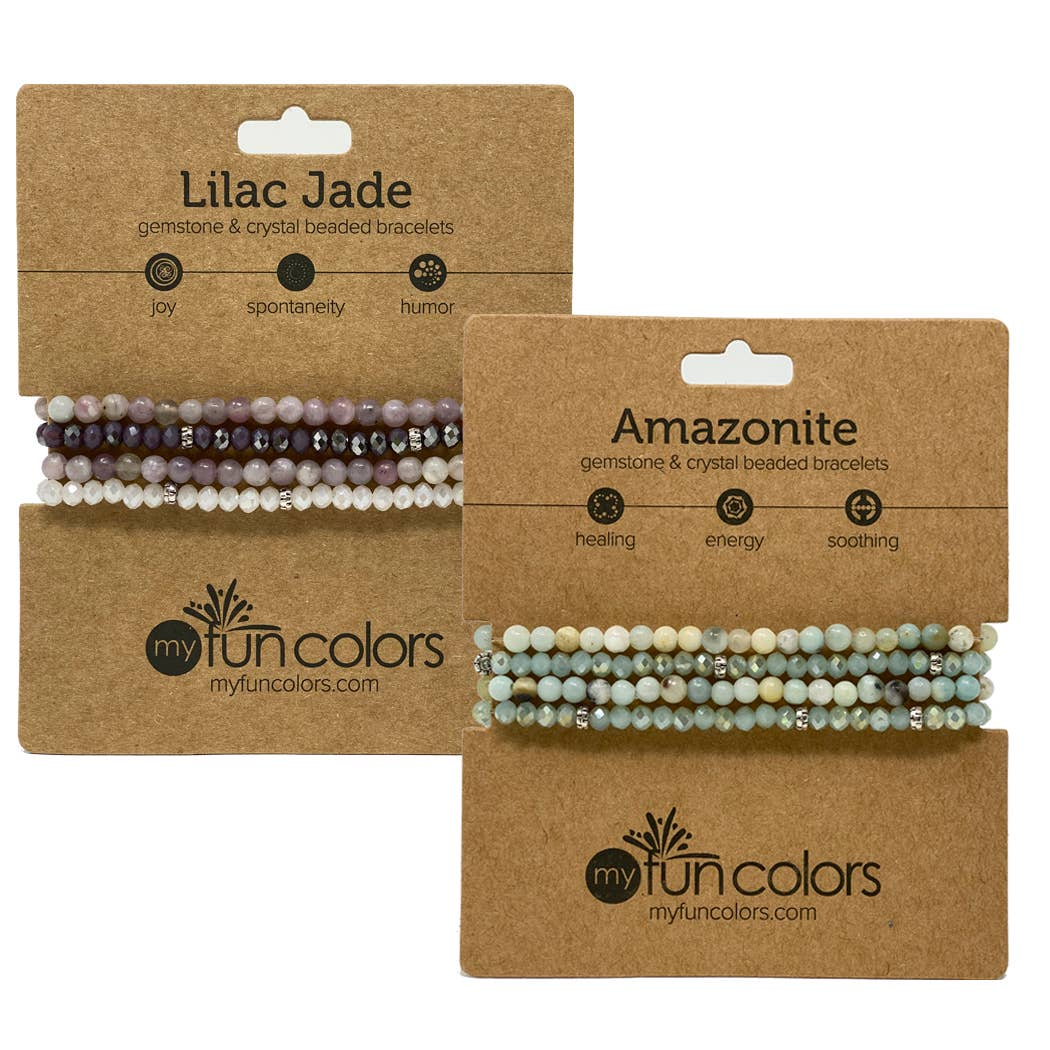 My Fun Colors - Mini Gemstone and Crystal Bracelet Set - 20 Style Options