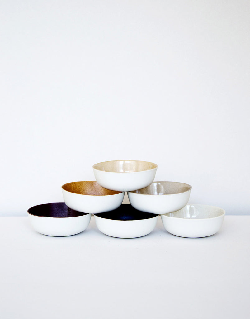 Kirstie van Noort Cornwall Small Bowls- Light beige/high gloss