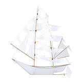 LARGE HAPTIC LAB SAILING SHIP KITE -  WHITE