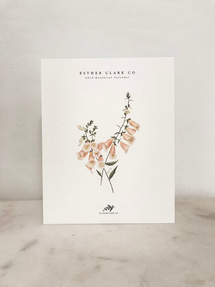 Available now! 2019 Botanical Calendar