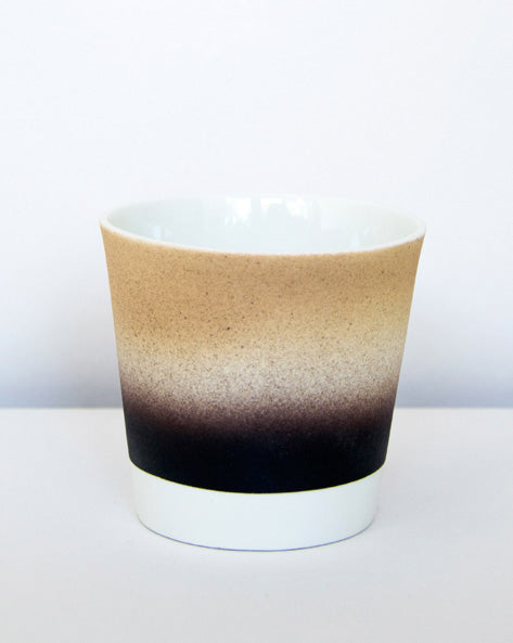 Kirstie van Noort Cornwall Coffee Cup- Bottom Orange / Black