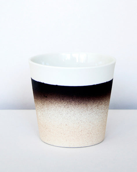 Kirstie van Noort Cornwall Coffee Cup- Top Black/Pink