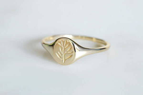 Botanical Collection - Mini Olive signet