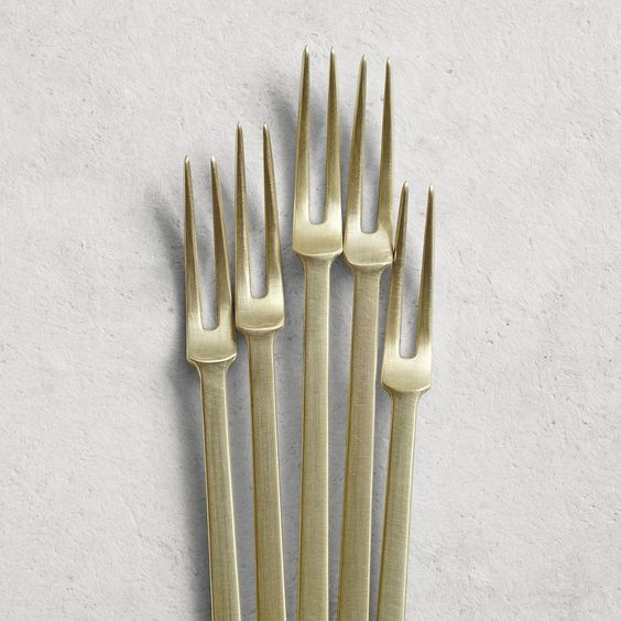 Azmaya dessert fork (5 Piece set) brass