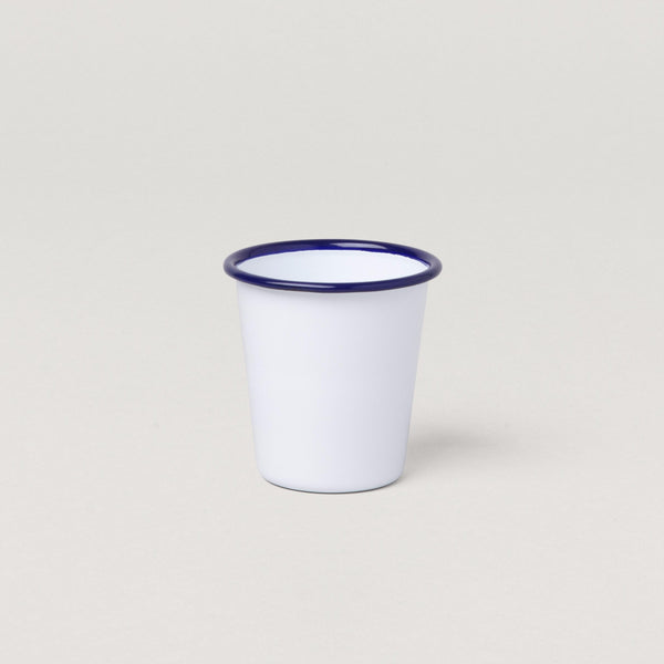 Falcon Tumblers White with Blue rim
