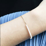 BOX AND CROSS 18k Half Chain Thread Bracelet (Made to order)