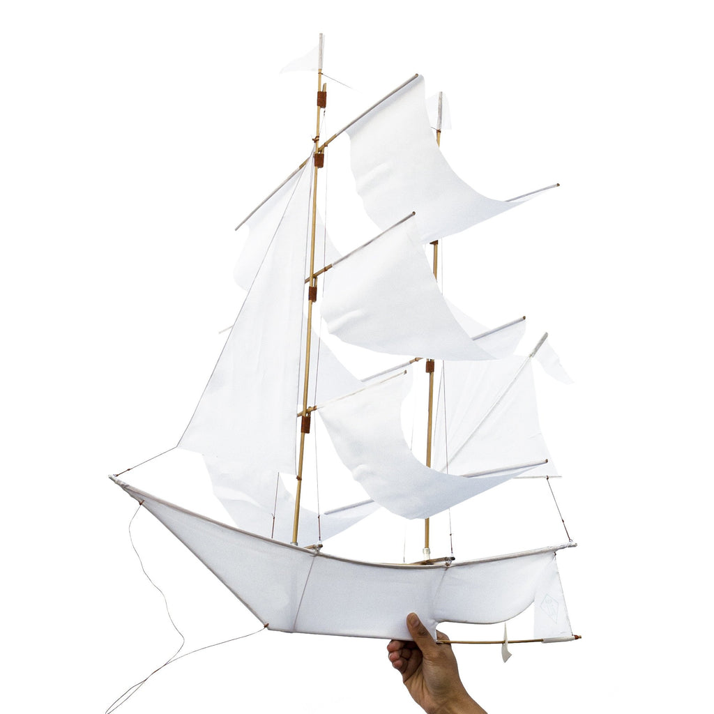 Haptic Lab Small Sailing Ship Kite – White