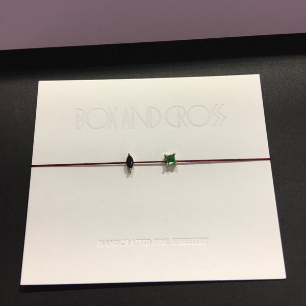 BOX AND CROSS double gemstone bracelet  (Limited edition)