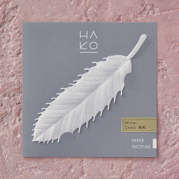 HA KO Paper Incense -  Winter Cedar cypress