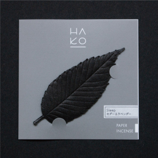 HA KO Paper Incense -  Black Sleep
