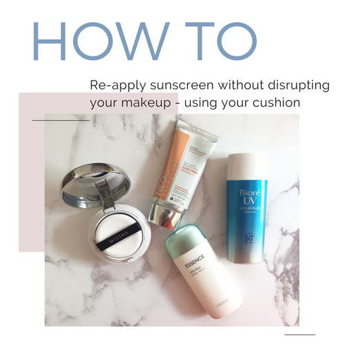 How To Re-Apply Sunscreen Over Makeup With A Cushion