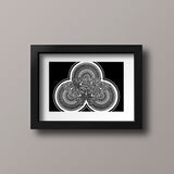 50Floral Mandala Black Trilogy Framed by SimmyGhatt