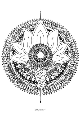 Rising Mandala - by Simmy Ghatt