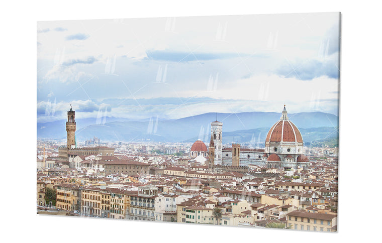 A terrace overlooking Florence