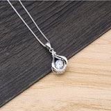 100% Silver 925 Jewelry Necklace Snowflake Zircon Pendant Women'S Necklace Chain Length 45cm
