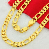 10mm Chunky Luxury Gold Filled Curb Cuban Chains Necklace Thick Heavy Link Chain Men Necklace Jewelry Gift
