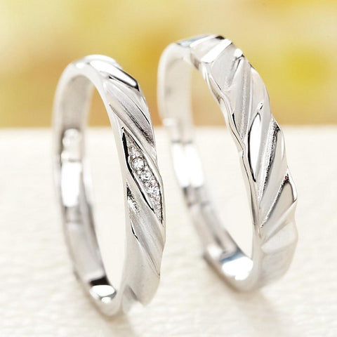 2cba338c7d 1PCS sterling-silver-jewelry Simple Style Ring Pure Sterling Silver 925  Jewelry Trendy Couple