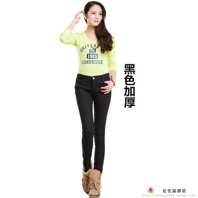 2018 Autumn Winter Jeans for Women Skinny Pencil Style Warm Many Colored Jeans Plus Cashmere - Markand Design