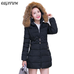 2018 Fashion Women winter jacket Long Style Parkas Coat Slim Casual Winter Coat Women Warm Parka Plus Size - Markand Design