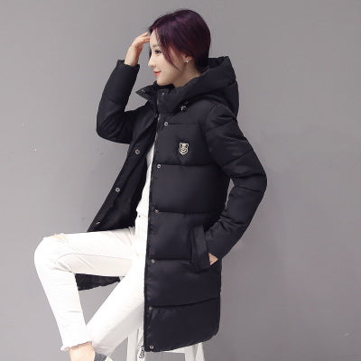 New Arrival Fashion Winter Women Down Warm Coats Long sleeve Hooded Jackets Slim Style Casual Parka Coat