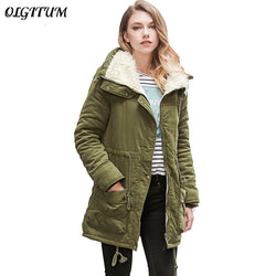 2018 New Fashion Winter Jacket Women Slim loose Outwear Medium-Long Wadded Jacket Thick Cotton Jacket Warm Fleece Parkas S-2XL - Markand Design