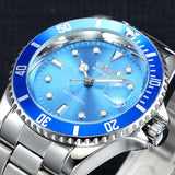 Winner Top Brand Luxury Blue Men Watch Automatic Skeleton Mechanical Wristwatch Male Man Watches Hour Relogio Masculino