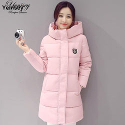 Down parka women autumn winter coat down long coat 8665 winter jacket women coat